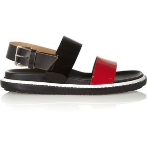 Authentic MARNI - patent leather upper sandals